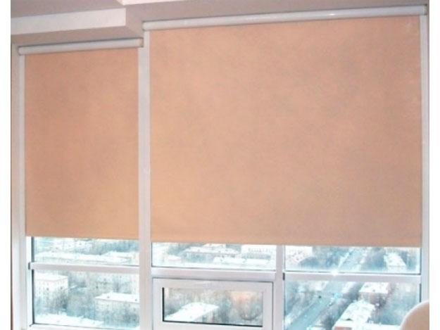 Рулонные шторы на пластиковые окна без сверления -30